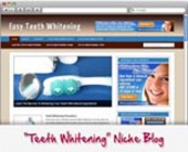 Thumbnail Teeth Whitening WordPress Blog - With Personal Use Rights