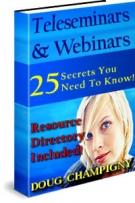 Thumbnail Teleseminars & Webinars - With Master Resell Rights