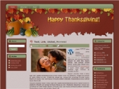 Thumbnail Thanksgiving - Fall WP Theme - With Master Resale Rights