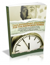 Thumbnail Time Management Strategies For The Knowledge Worker - With Master Resale Rights