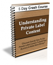 Thumbnail Understanding Private Label Content - 5 Day Crash Course! - With Private Label Rights