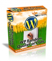 Thumbnail WP Random Quotes or Code - With Master Resell Rights