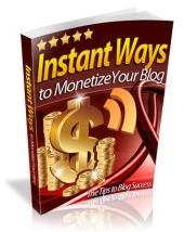 Thumbnail Instant Ways To Monetize Your Blog - With Master Resell Rights