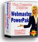 Thumbnail Webmaster PowerPak : Special Edition - With Resell Rights