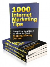 Thumbnail 1000 Internet Marketing Tips - With Private Label Rights