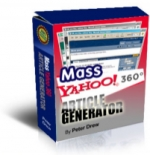 Thumbnail Mass Yahoo! 360 Article Generator - With Master Resale Rights