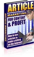 Thumbnail Article Marketing For Content & Profit - With Resell Rights
