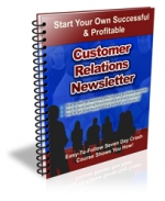Thumbnail Customer Relations Newsletter - With Private Label Rights