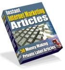 Thumbnail Instant Internet Marketing Articles - With Private Label Rights