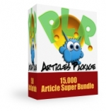 Thumbnail Monster PLR Articles Package - With Private Label Rights