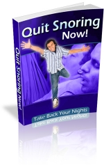 Thumbnail Quit Snoring Now! - With Master Resale Rights