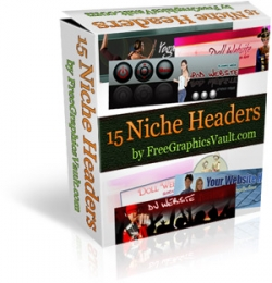 Pay for 15 Niche Headers Package - With Resell Rights