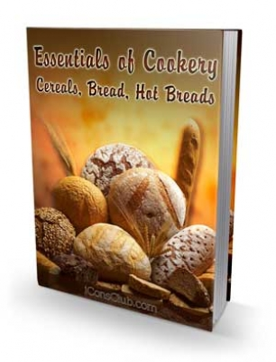 Pay for Essentials of Cookery; Cereals, Bread, Hot Breads - With Private Label Rights