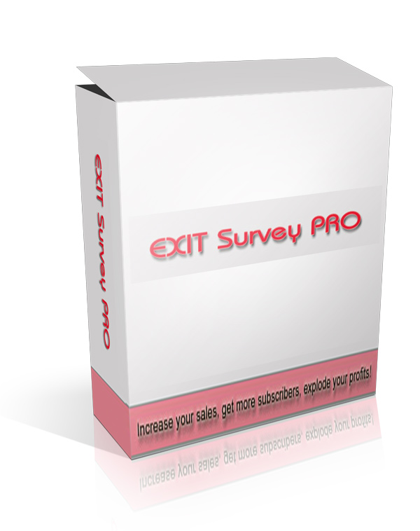 Pay for Exit Survey Pro - With Master Resale Rights
