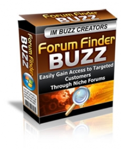 Pay for Forum Finder Buzz - With Master Resale Rights