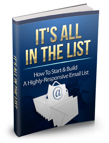 Pay for It's All In The List - With Master Resell Rights