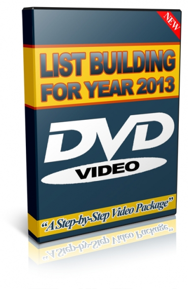 Pay for List Building 2013 - With Master Resell Rights