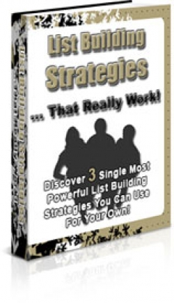 Pay for List Building Strategies That Really Work - With Private Label Rights