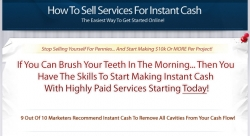 Pay for How To Sell Services Online For Instant Cash! With Master Resale Rights