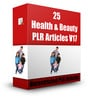 Thumbnail 25 Health & Beauty PLR Articles V17