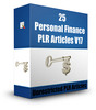 Thumbnail 25 Personal Finance PLR Articles V17