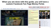 Thumbnail Facebook Fan Page Template Landing Page - Concert Tickets