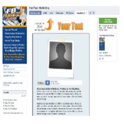 Pay for Facebook Fan Page Template with PLR