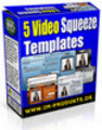 Thumbnail 5 Video Squeeze Templates Web 2.0 mit PLR & MRR