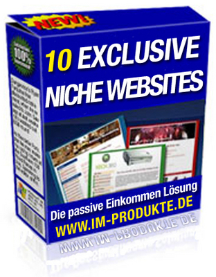 Pay for 10 Exclusive Niche Sites mit MRR