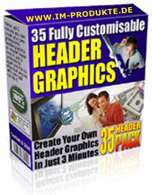 Pay for 35 Private Label Header Grafiken mit MRR