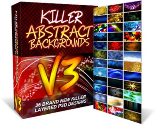Pay for Killer Abstract Backgrounds V3 - MRR