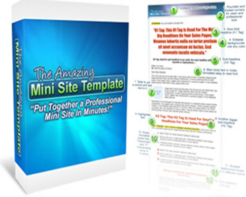 Pay for Amazing Mini Site Templates