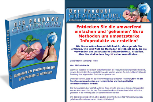 Pay for Der Produkt Creation Guru - eBook - PLR