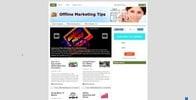 Thumbnail Offline Marketing Tips Niche Blog PLR
