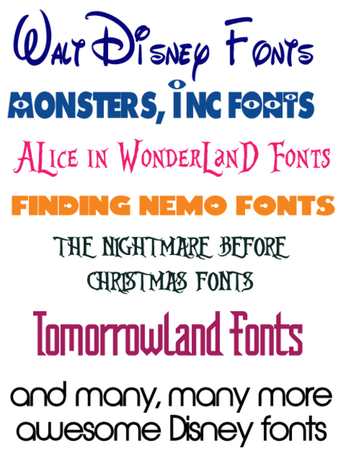 Pay for Ultimate Disney Font Package - Over 25 Disney Fonts - GET NOW!