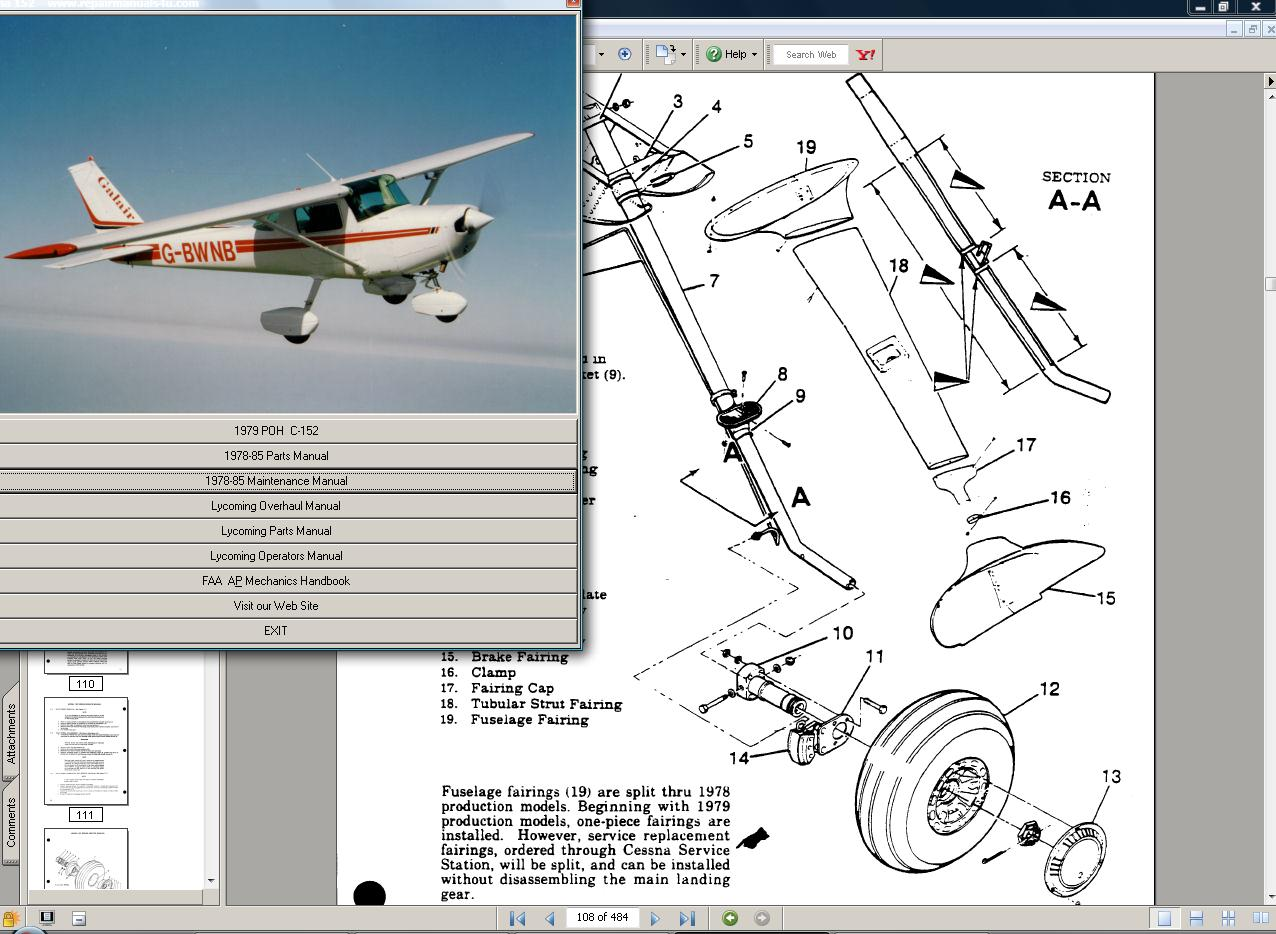 Thumbnail Cessna 150 & aerobat manual set + engine