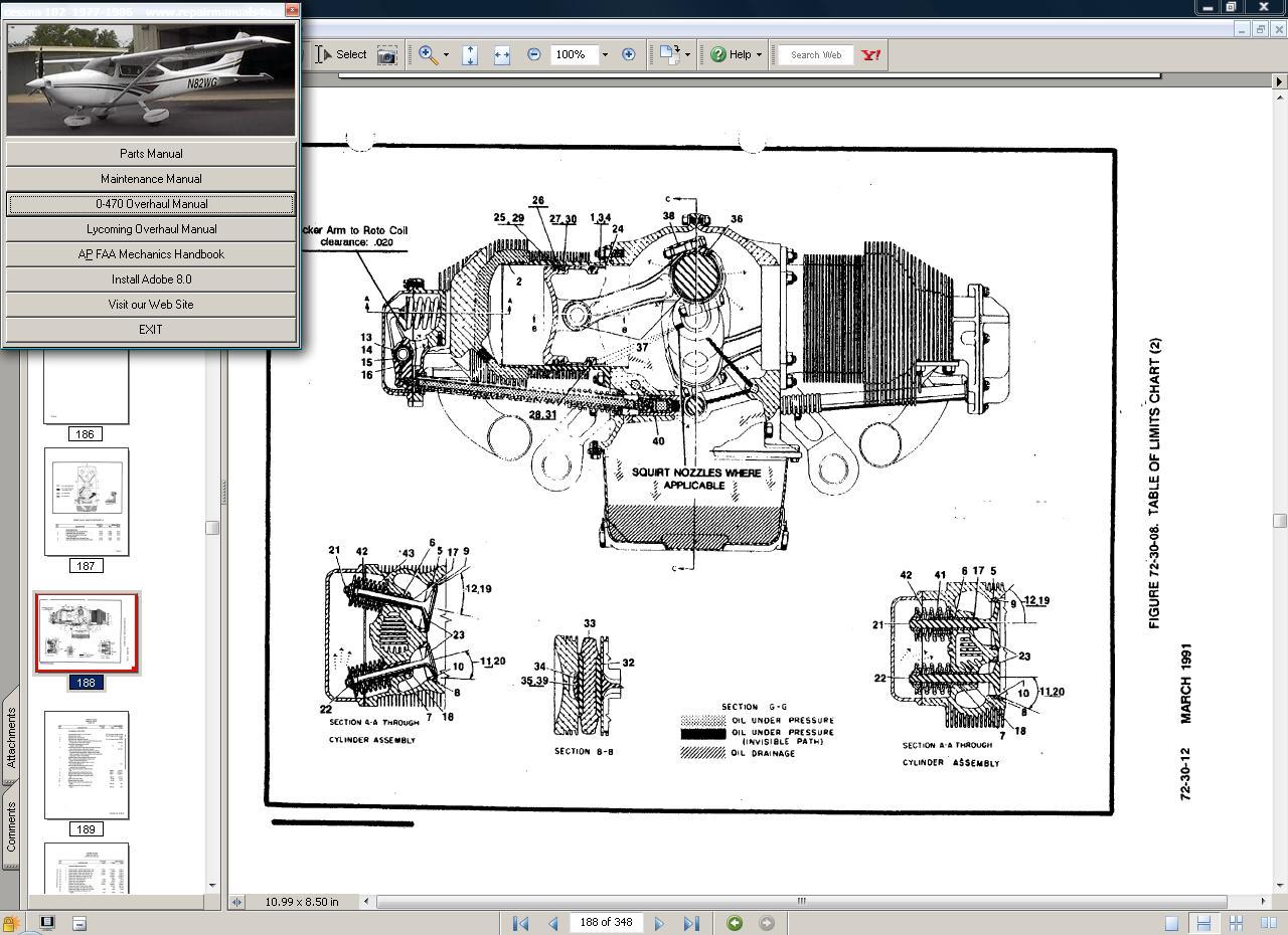 Cessna 182 & T182  manual set + engine 77-86