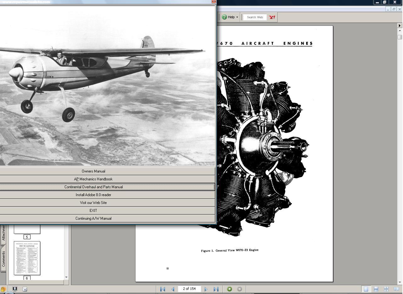 Cessna 190 195 Owners Manual + Faa Handbook