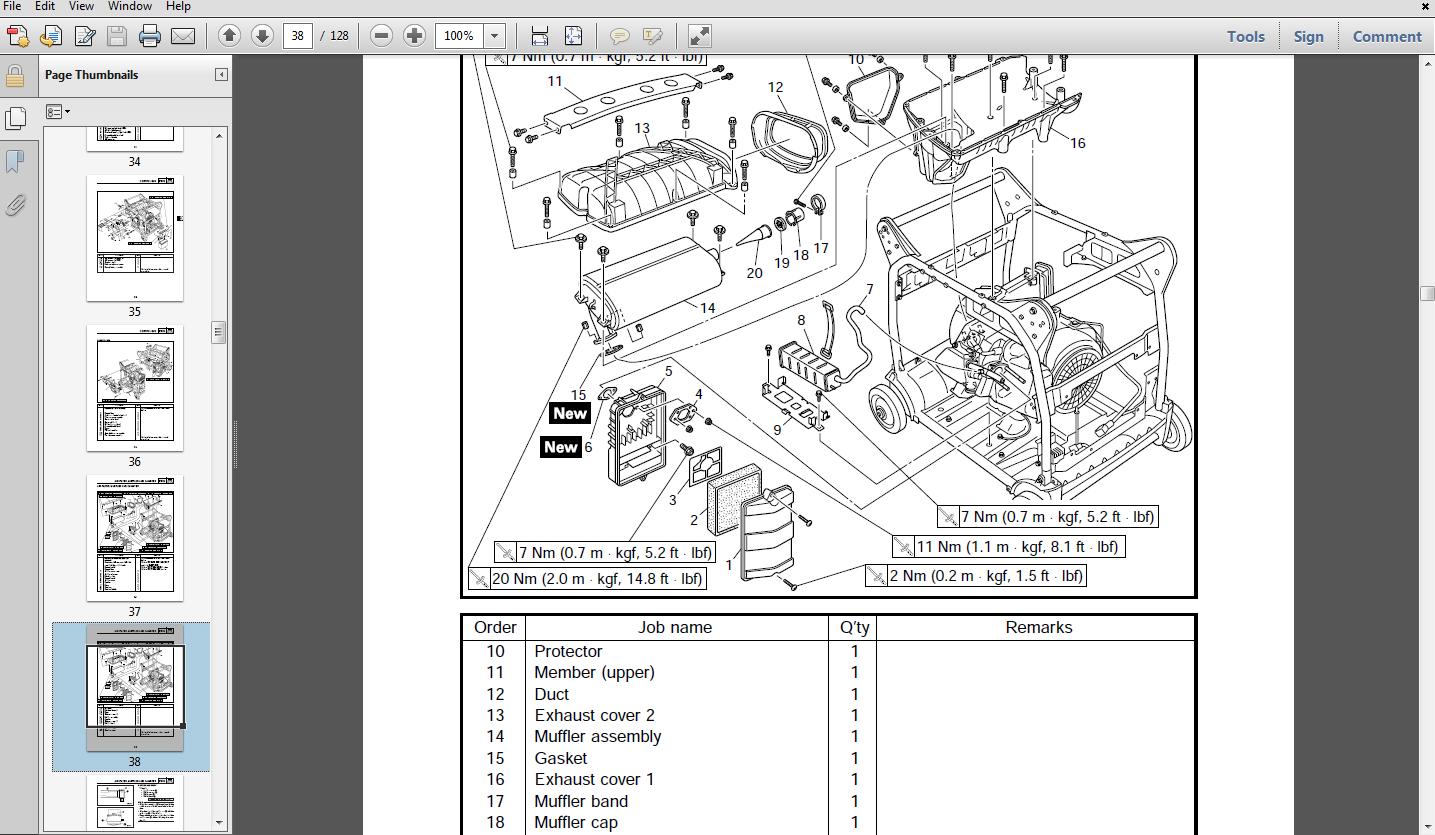 Thumbnail Yamaha EF4000DE / YG4000D Generator Service Manual