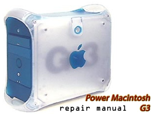 Pay for Apple Service Manual   Power Macintosh g3  Blue And White  And Macintosh Server g3.pdf