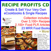 Thumbnail Recipe Profits CD Full PLR & MRR Rights Huge Profits