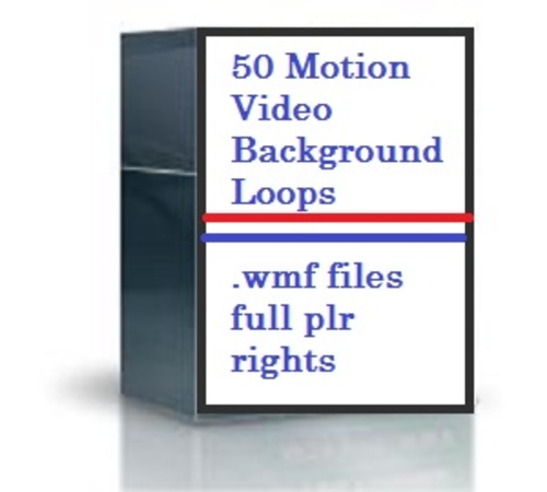 Pay for 50 Motion Video Background Loops with Private Label Rights