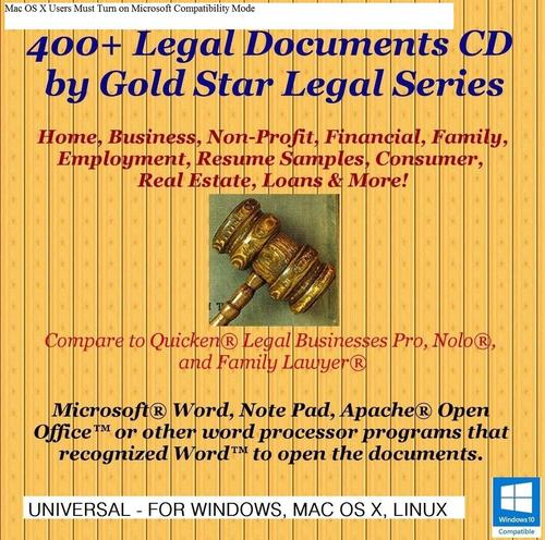 Pay for 400+ Legal Documents - Unlimited Use - Resale Ok!