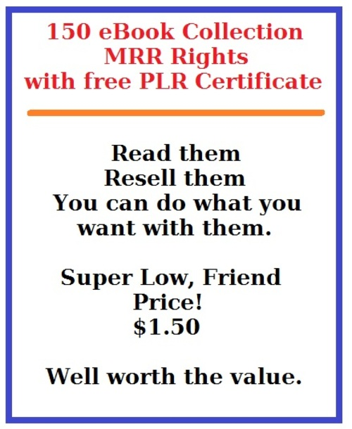 Pay for 150 MRR eBook Collection - Instant Money Maker!