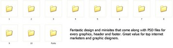 Thumbnail *must have* 10 Websites Minisites with Graphics with PLR