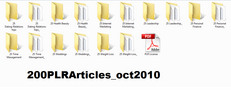 Thumbnail *MUST HAVE*200 Niche Articles (OCT 2010) with PLR