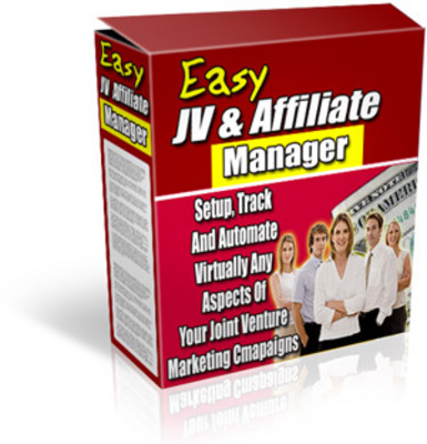 Pay for *new* Easy JV and Affiliate Manager PLR