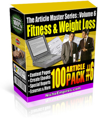 Pay for *new* 100 Fitness Weight Loss Private Label Articles with PL