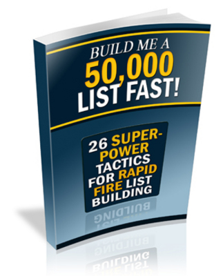 Pay for *new* Build Me a 50,000 List, Fast Report with PLR