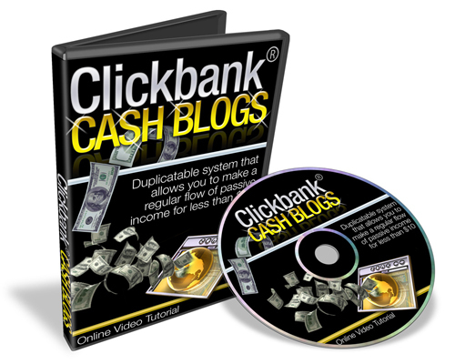 Pay for *new* Clickbank Cash Blogs Video Tutorials with MRR